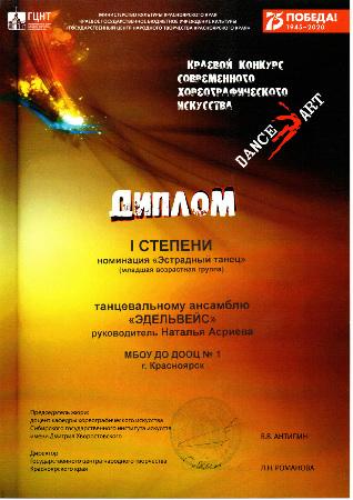 Краевой конкурс современного хореографического искусства